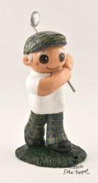 The Golfer Birthday Cake Topper