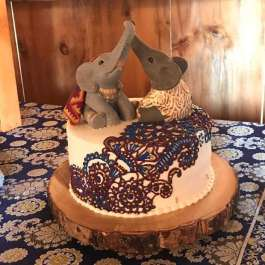 Aprils Elephants Traditional Indian Wedding Cake