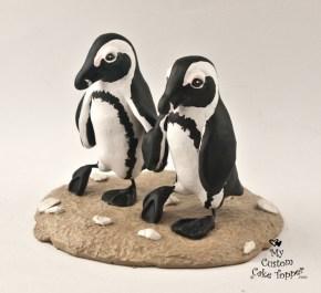 Penguins Walking on the Beach