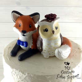 Cartoon Fox and Owl