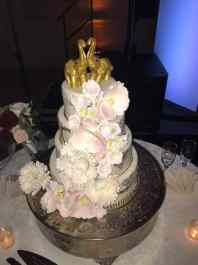 Golden Elephants Wedding Cake Topper