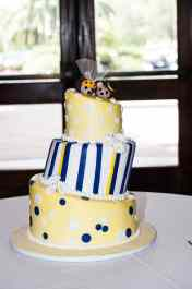 Natalie's Hedgehog Sunflowers Wedding Cake