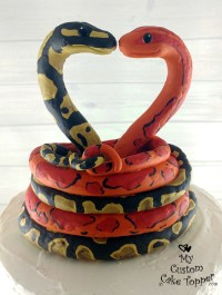 Snakes Love Tying the Knot Custom Wedding Cake Topper