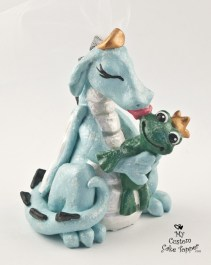 Dragon And Frog Wedding Cake Topper