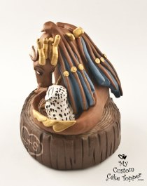 Dragon and Owl Steam Punk Cake Topper