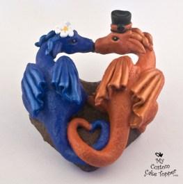 Dragons in a Heart Sculpture