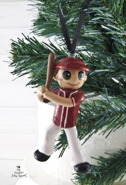 Baseball Boy Christmas Ornament