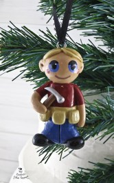 Carpentry Boy Christmas Ornament