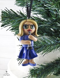 Clarinet Girl Christmas Ornament