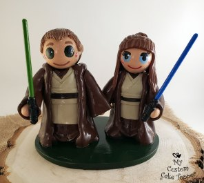 Bride and Groom Star Wars Jedis