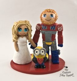 Bride and Groom Transformers and Minions