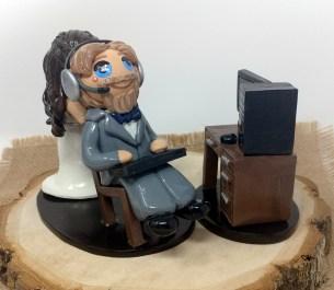 Bride Dragging Computer Groom