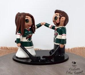 Bride and Groom Minnesota Hockey