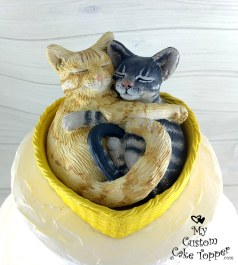 Realistic Cats Cuddling in Basket
