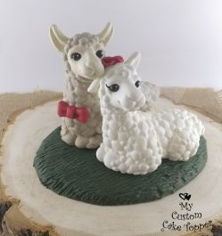 Llamas Wedding Cake Topper
