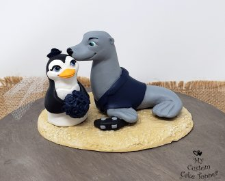 Penguin and Seal Cake Topper