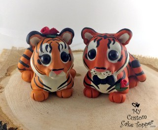 Tigers Wedding Cake Topper