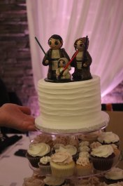 Ariel's Jedi Family Wedding Cake Topper