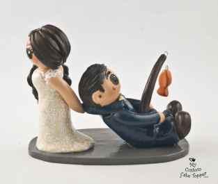 Bride Dragging Fishing Groom