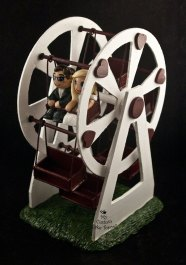 Bride and Groom Riding a Ferris Wheel Cake Topper 2