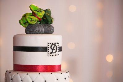 Kim's Veiled Chameleons Cake Topper 5