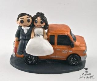 Bride and Groom Dodge Ram Truck Cake Topper