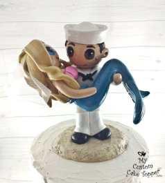 Sailor Groom Carrying Mermaid Bride
