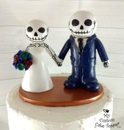 Bride and Groom Skeleton Cake Topper