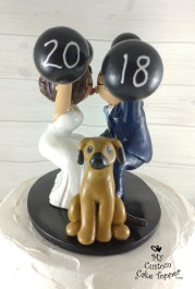 Bride and Groom Snatch Cake Topper