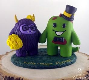 Custom Yeti and Dino Cake Topper
