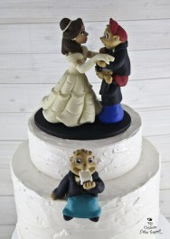 Chipmunks and Belle Dancing Cake Topper
