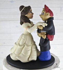 Chipmunks and Belle Dancing Cake Topper Closeup
