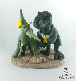 T-rex and Pteranodon Cake Topper