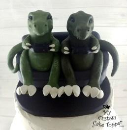 T-Rex Dinosaurs Gaming Cake Topper