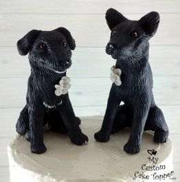 Black Lab Dogs Cake Topper