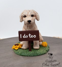 Goldendoodle Dog Cake Topper