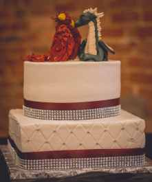 Krista and Brad's Phoenix and Dragon Cake Topper 2