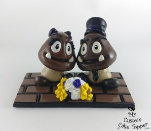 Goomba Mario Brothers Game Cake Topper