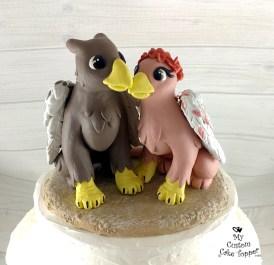 Griffon Cartoon Wedding Cake Topper