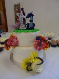 John's Giraffe and Dragon Cake Topper