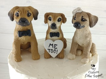 Puggle Family Cake Topper