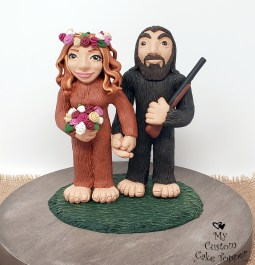Sasquatch Big Foot Wedding Cake Topper