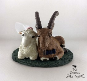 Sheep and Goat Realistic Cake Topper