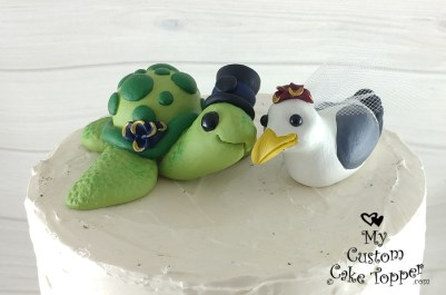Turtle and Seagull Cake Topper