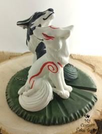 Okami Amaterasu Wolf Link Zelda Cake Topper