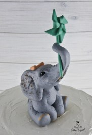 Elephant First Birthday Cake Topper