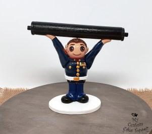 Strongman Military Retirement Cake Topper