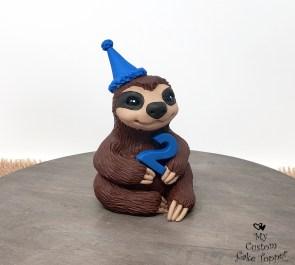 Sloth Birthday Cake Topper