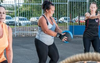 Continuous feedback group fitness class