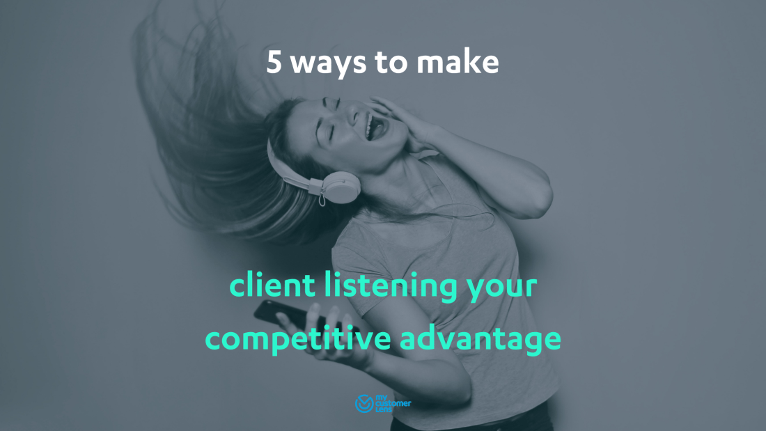 Lady listening with headphones - 5 client listening tips